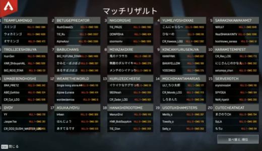 【速報】第3試合、『チームフラミンゴ』がチームキル数11キルを獲得して勝利!!【CRカップ】