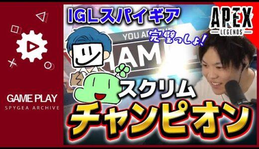 【Apex】えぺまつり初スクリムでチャンピオンオーダー!【SPYGEA・スパイギア】
